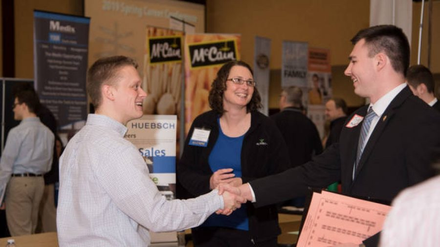Prior to COVID-19, each career fair was held in-person in Davies, Heidke said. Due to the pandemic, the spring career was completely virtual.