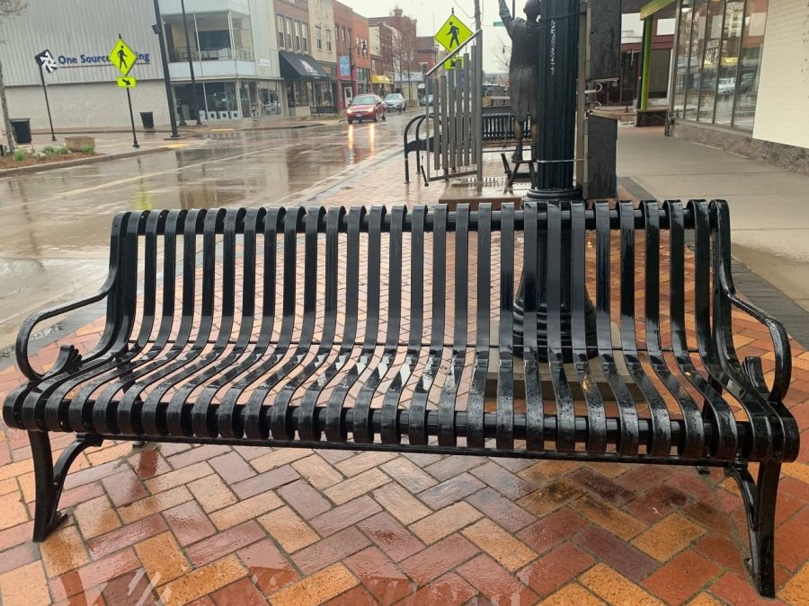 Pictured is the bench where Ryan and Katie, two former friends, reconnect from episode one: Downtown.
