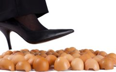 Living with a narcissistic parent is often described as walking on eggshells