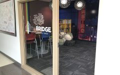 The Bridge, on the second floor of Davies Center, offers a safe community space for LGBTQ students.