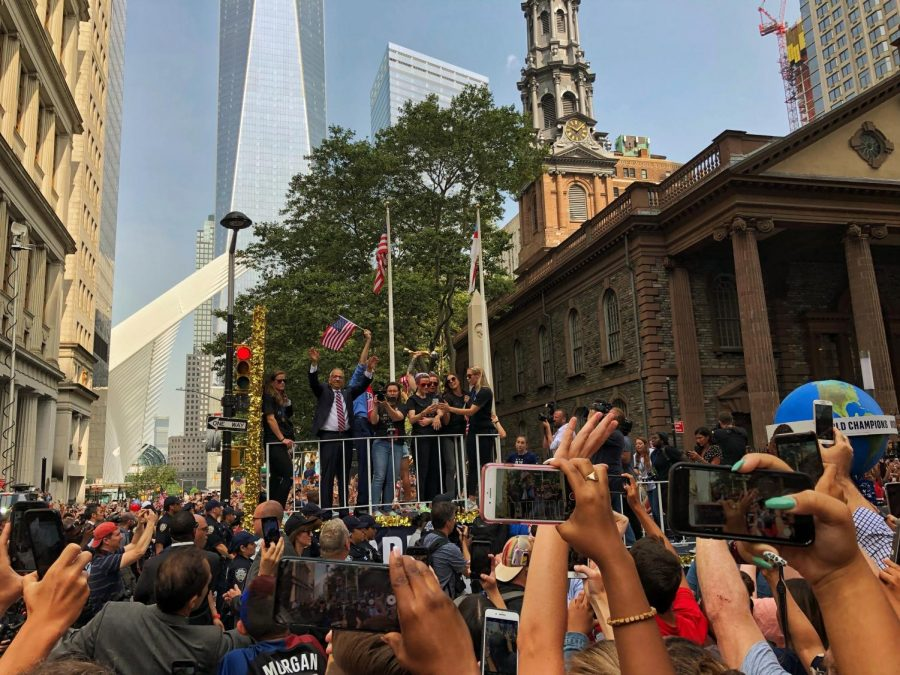USWNT's Victory Parade after winning the 2019 World Cup as the crowd chanted 'Equal Pay'