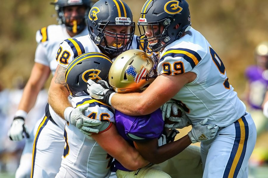 The Blugold defense held Loras College to six points while allowing the offense to run away with the game in the second half.
