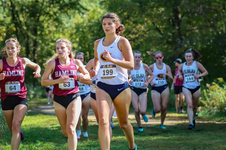 The Blugolds raced in Northfield after missing a season