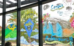 Events kicked off Sunday, Oct. 10 with spirit week window painting on the north windows of Davies center.